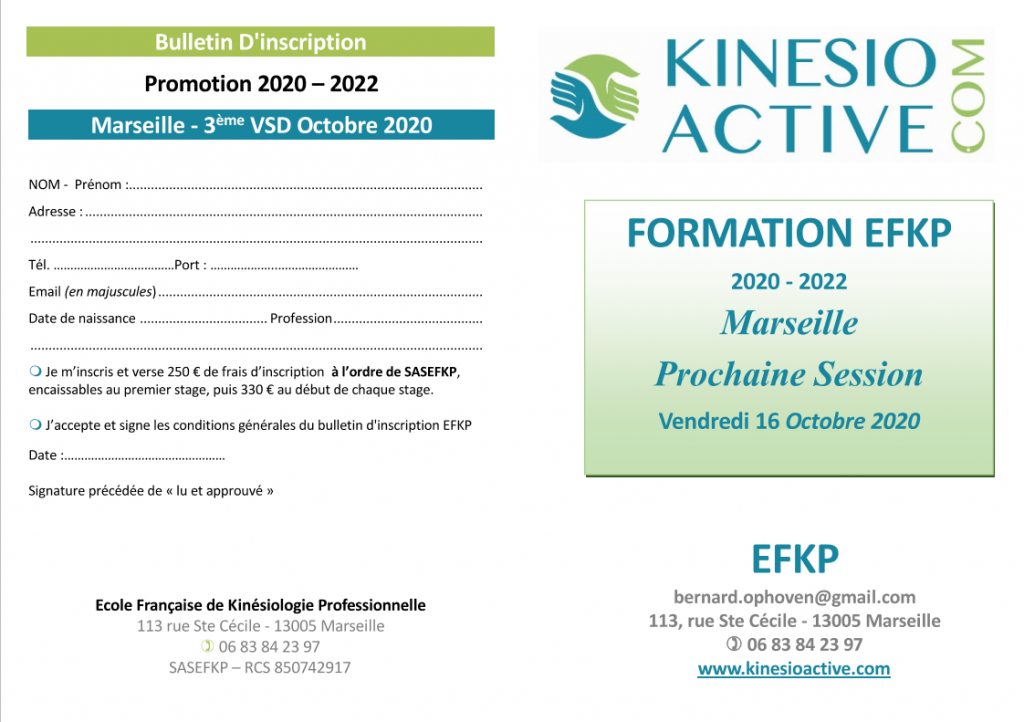 BULLETIN EFKP 16 OCTOBRE 2020 INSCRIPTION